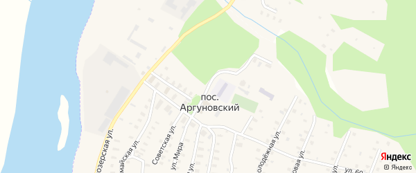 Улица Мира на карте Аргуновского поселка с номерами домов