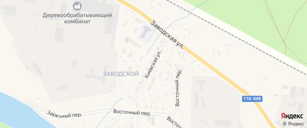 Киевская улица на карте Вельска с номерами домов