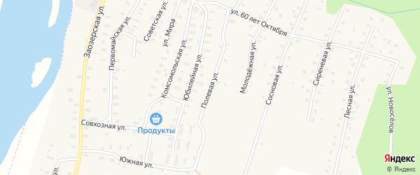 Полевая улица на карте Аргуновского поселка с номерами домов