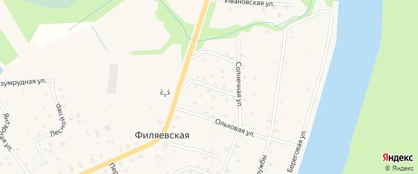 Северная улица на карте Филяевской деревни с номерами домов