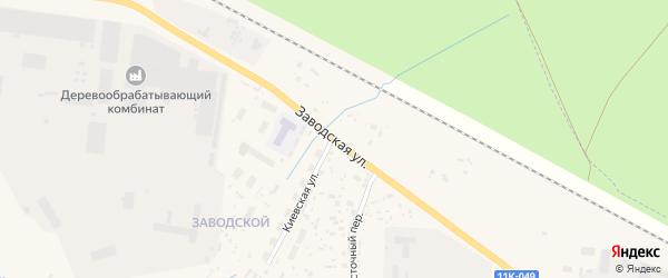 Заводская улица на карте Вельска с номерами домов