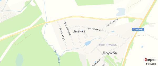 Карта деревни Змейки города Выксы в Нижегородской области с улицами и номерами домов