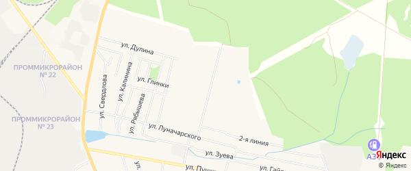 Карта территории СНТ Труда города Выксы в Нижегородской области с улицами и номерами домов