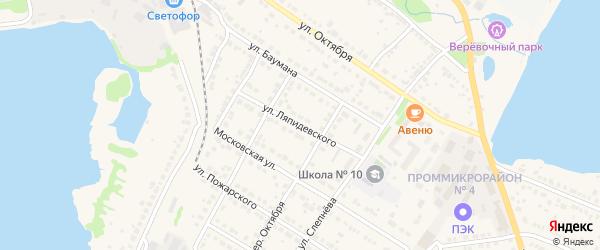 Улица Ляпидевского на карте Выксы с номерами домов