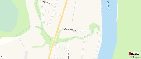 Ивановская улица на карте Филяевской деревни с номерами домов