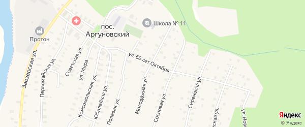 Улица 60 лет Октября на карте Аргуновского поселка с номерами домов