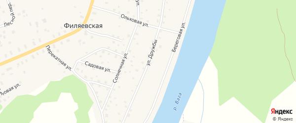 Улица Дружбы на карте Филяевской деревни с номерами домов