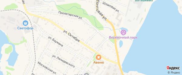 Пролетарский переулок на карте Выксы с номерами домов