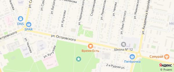 Площадь Октябрьской революции на карте Выксы с номерами домов