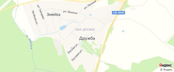 Карта поселка Дружбы города Выксы в Нижегородской области с улицами и номерами домов