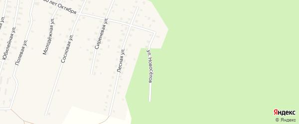 Улица Новоселов на карте Аргуновского поселка с номерами домов