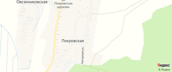 Нагорная улица на карте Покровской деревни с номерами домов