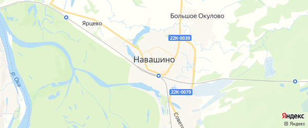 Карта Навашино с районами, улицами и номерами домов: Навашино на карте России