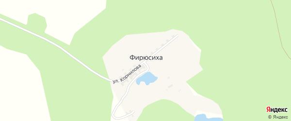 Улица Корнилова на карте поселка Фирюсихи с номерами домов
