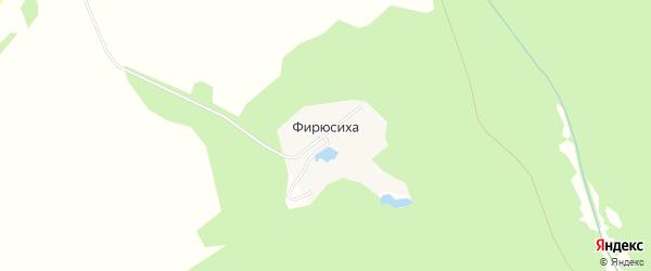 Карта поселка Фирюсихи города Выксы в Нижегородской области с улицами и номерами домов