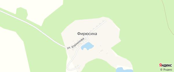 Специальный 10-й квартал на карте поселка Фирюсихи с номерами домов