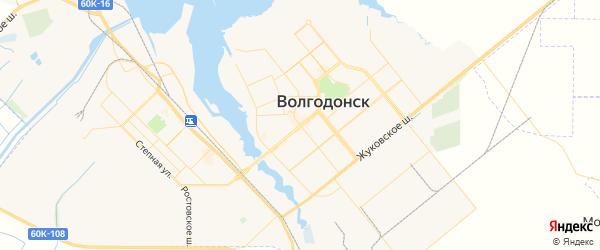 Карта Волгодонска с районами, улицами и номерами домов