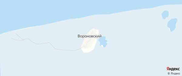 Карта территории Маяка Вороновского в Архангельской области с улицами и номерами домов