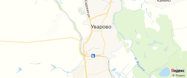 Карта Уварово с районами, улицами и номерами домов