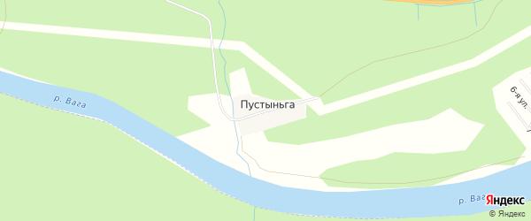 Карта поселка Пустыньги в Архангельской области с улицами и номерами домов