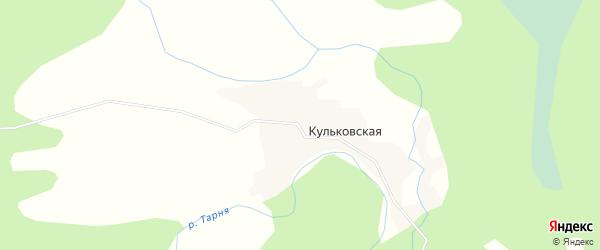 Карта Кульковской деревни в Архангельской области с улицами и номерами домов
