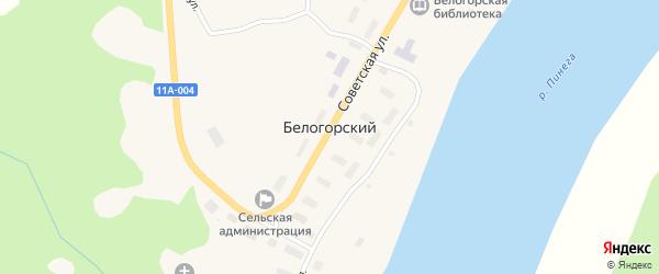 Северная улица на карте Белогорского поселка с номерами домов