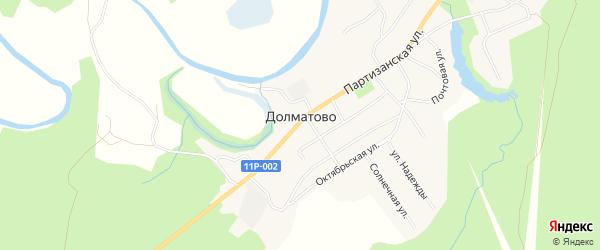 Карта села Долматово в Архангельской области с улицами и номерами домов