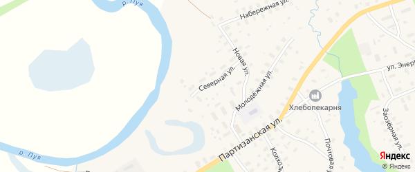 Северная улица на карте села Долматово с номерами домов