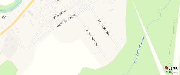 Солнечная улица на карте села Долматово с номерами домов