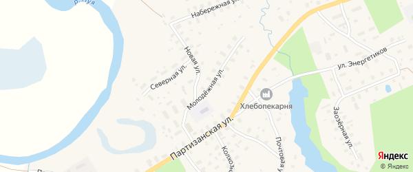Молодежная улица на карте села Долматово с номерами домов
