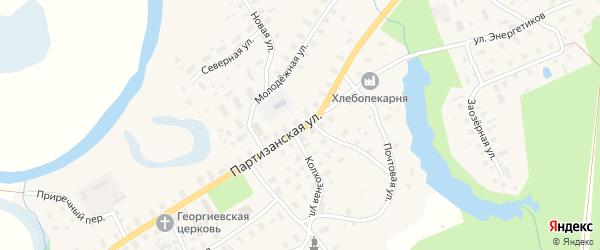 Партизанская улица на карте села Долматово с номерами домов