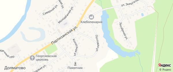 Пионерская улица на карте села Долматово с номерами домов
