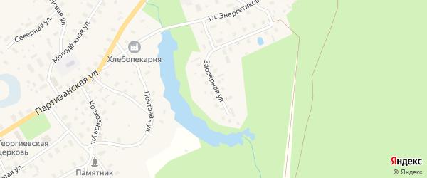 Заозерная улица на карте села Долматово с номерами домов