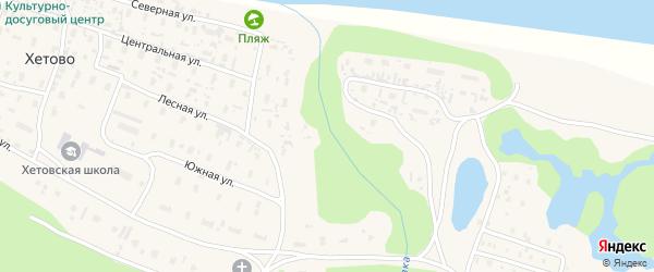 Дорожная улица на карте поселка Хетово с номерами домов