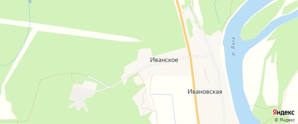 Карта поселка Иванского в Архангельской области с улицами и номерами домов