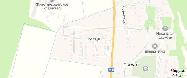 Новая улица на карте поселка Погоста с номерами домов