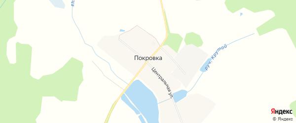 Карта деревни Покровки города Выксы в Нижегородской области с улицами и номерами домов