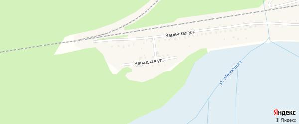 Западная улица на карте Кулоя поселка с номерами домов