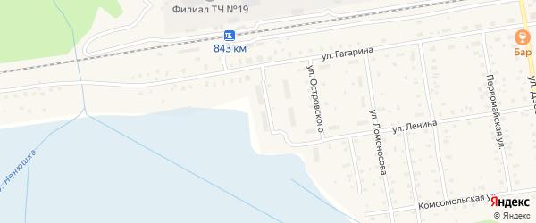 Локомотивная улица на карте Кулоя поселка с номерами домов