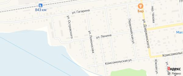 Улица Ломоносова на карте Кулоя поселка с номерами домов