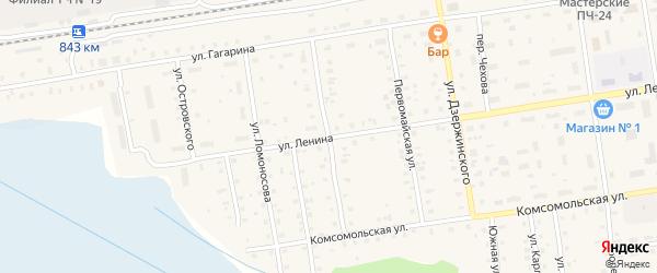Улица Клавы Назаровой на карте Кулоя поселка с номерами домов