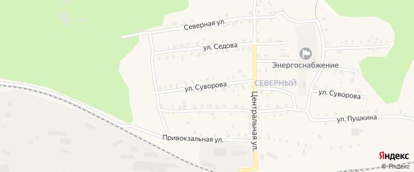 Улица Суворова на карте Кулоя поселка с номерами домов