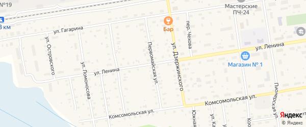 Первомайская улица на карте Кулоя поселка с номерами домов