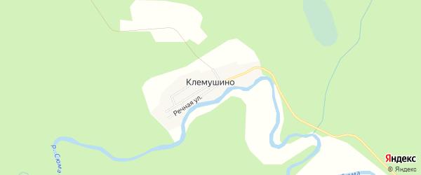 Карта поселка Клемушино в Архангельской области с улицами и номерами домов
