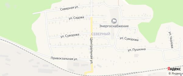 Центральная улица на карте Кулоя поселка с номерами домов
