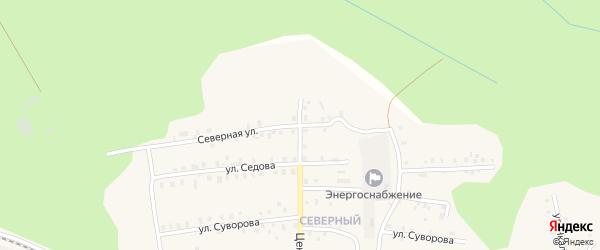 Северная улица на карте Кулоя поселка с номерами домов