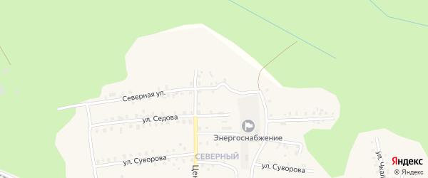 Северная улица на карте Кузнецовской деревни с номерами домов