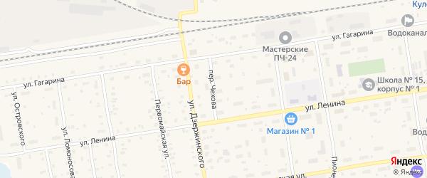 Переулок Чехова на карте Кулоя поселка с номерами домов