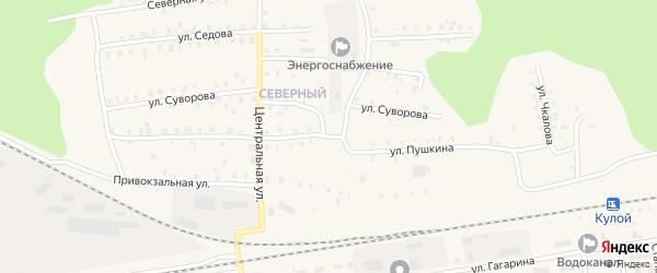 Улица Пушкина на карте Кулоя поселка с номерами домов