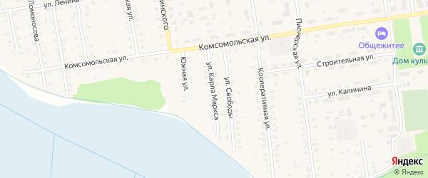 Улица Карла Маркса на карте Кулоя поселка с номерами домов